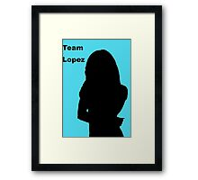 Team Lopez Framed Print