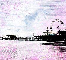Santa Monica Pier Pink Grunge by stine1