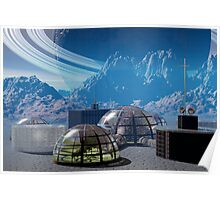 Outpost 47.  Remote base in outer space. Poster