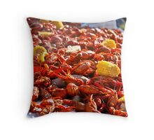 Steaming Crayfish Boil Throw Pillow