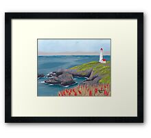 Lighthouse Waiting ~ Seascape ~ Oil Painting Framed Print