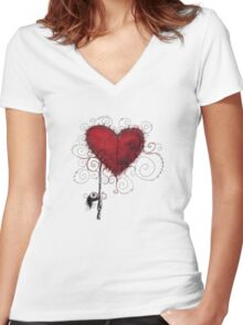Handmade Suicide Women's Fitted V-Neck T-Shirt