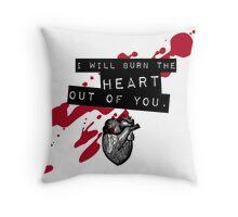 Moriarty - Heart Throw Pillow