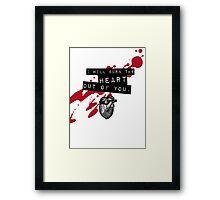Moriarty - Heart Framed Print