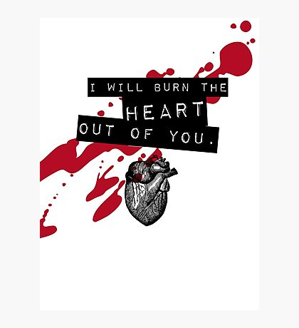 Moriarty - Heart Photographic Print