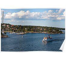 Harbour in Stockholm Poster