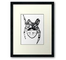 Cat Face Spider  Framed Print
