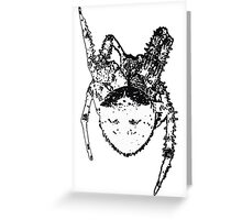 Cat Face Spider  Greeting Card