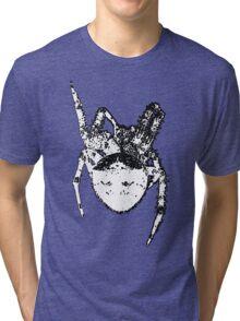 Cat Face Spider  Tri-blend T-Shirt