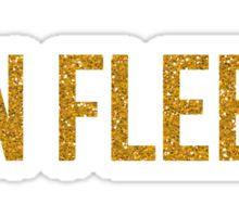 On Fleek - Gold Glitter Sticker