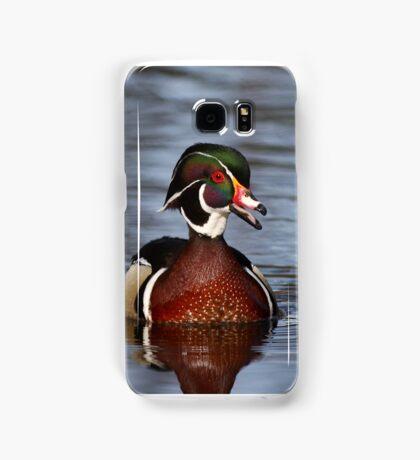 Wood duck portrait Samsung Galaxy Case/Skin