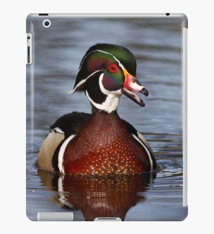 Wood duck portrait iPad Case/Skin