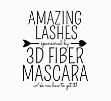 Amazing Lashes Sponsored by 3D Fiber Mascara. Ask me about it!  Younique Inspired Womens Fitted T-Shirt