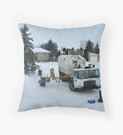 Robotic Garbage Collection Throw Pillow