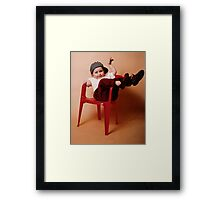 One Can Always Rely On One's Da' To Embarrass One! Framed Print