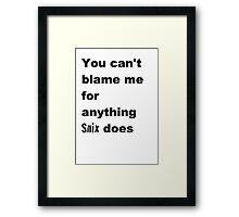 Snix Framed Print