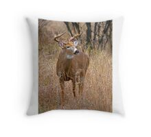 Blood Antlers - White tailed deer Buck Throw Pillow