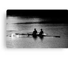 """""""The Scullers"""" Canvas Print"""