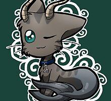 Zodiac Cats - Capricorn by OddworldArt