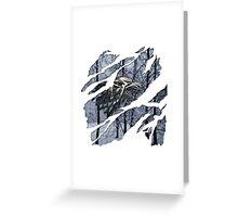 Stark house sigil winter ripped Greeting Card