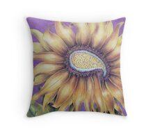 paisley flower Throw Pillow