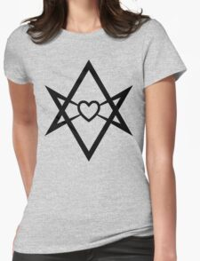 Thelema Heart Womens Fitted T-Shirt