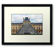 Louvre and Palace. Paris, France.  Framed Print