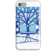 Snowflake Holiday Card iPhone Case/Skin