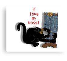 I 'love' my boss! Canvas Print