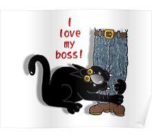 I 'love' my boss! Poster