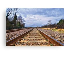 On The Right Track........ Canvas Print