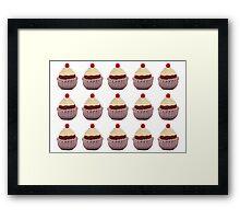Knitted Cupcake Framed Print