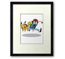 Pokemon Adventure Time Framed Print