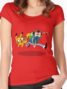 Pokemon Adventure Time Women's Fitted Scoop T-Shirt