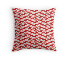 Red herring wallpaper Throw Pillow