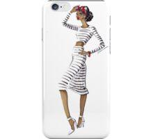 Striped & Chic iPhone Case/Skin