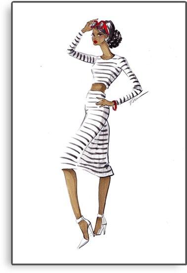 Striped & Chic by veronicamarche