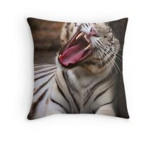 The Big Yawn Throw Pillow