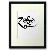 Led Zeppelin Jimmy Page Zoso Framed Print