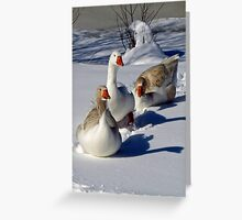 Walking in the Snow Greeting Card