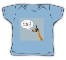 Clever giraffe explains Heisenberg uncertainty principle. Baby Tee