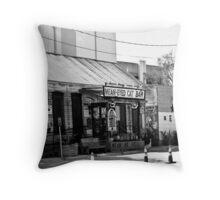 Mean Eyed Cat Bar - Austin, TX Throw Pillow
