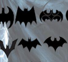 evolution of batman logos Sticker