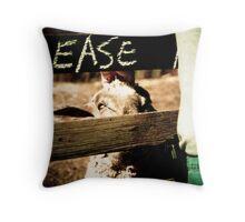 Please...Sheep Throw Pillow