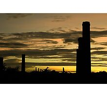 Towers Against Horizon Color Photographic Print