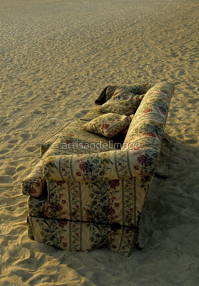 The True (But Incredible) Story Of The Couch On The Beach : Some Like It Cozy And Comfortable ! by artisandelimage