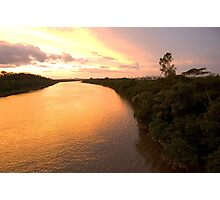 Terrific Colors of Sunset River Photographic Print