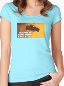 DRIVE FAST. LIVE FURIOUS. Women's Fitted Scoop T-Shirt
