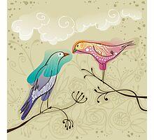 pair of love birds Photographic Print