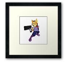Fox McCloud Starfox Melee Blue Design Framed Print